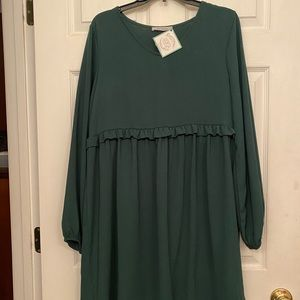 Babydoll Dress with Long Puff Sleeves NWTs